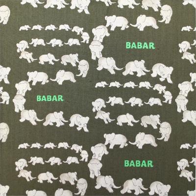 【動物プリント】- BABAR - 50x110cm (UAN-049H) カラーバリエーション