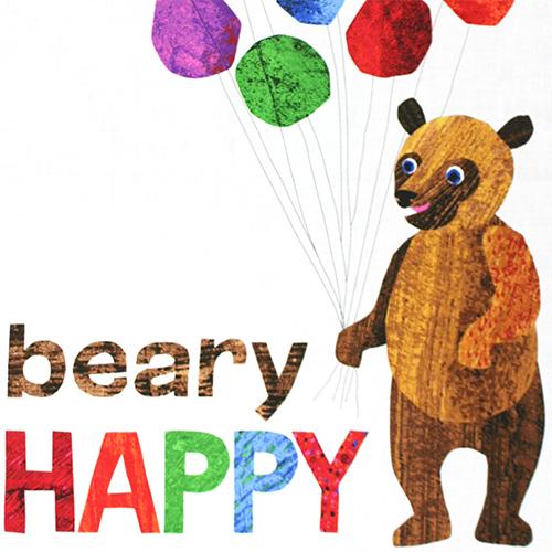 【Brown Bear】くまさん くまさん なにみてるの? - パネル柄 - 60x110cm (UBB-007)