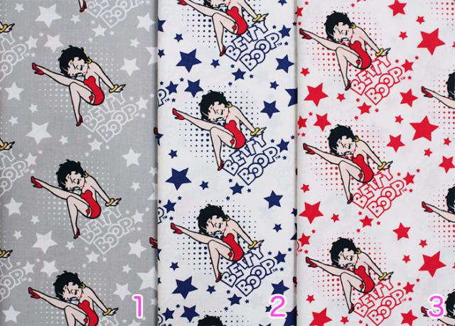 【Betty Boop】ベティ・ブープ (UBE-022)-カラーバリエーション-グレー,ブルー,レッド
