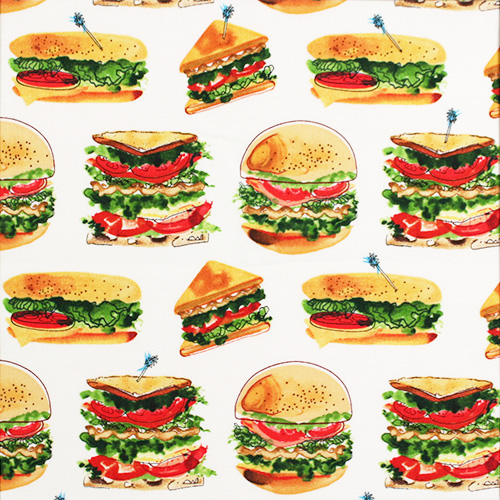 【Foods & Kitchen柄】50x110cm (UFK-201H) カラーバリエーション