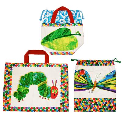 【はらぺこあおむし - USAコットン - 】パネル柄で作る「バッグ・袋」の布セット (UHC-SET003)