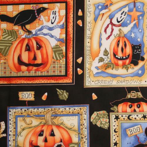 【USA】Halloween パネル柄 60x55cm (UHW-001)