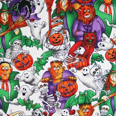 【USA】Halloween柄 50x55cm (UHW-021)