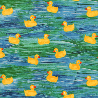 【10 Little Rubber Ducks】10このちいさなおもちゃのあひる 50x110cm(ULD-002H)