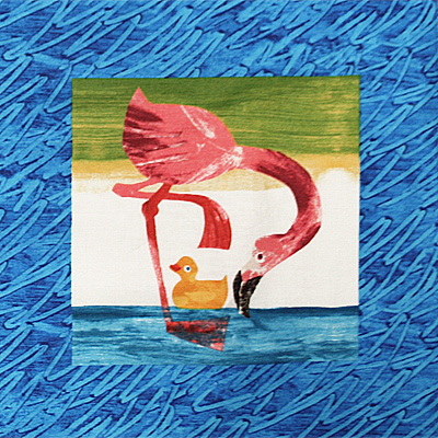 【10 Little Rubber Ducks】10このちいさなおもちゃのあひる パネルプリント 60x110cm(ULD-005)