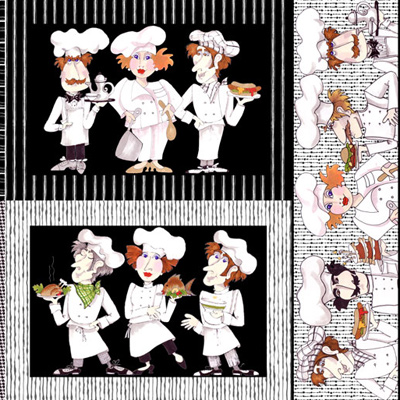 【Loralie Designs】- What's Cookin'? Placemat Panel - 60x110cm (ULH-034)