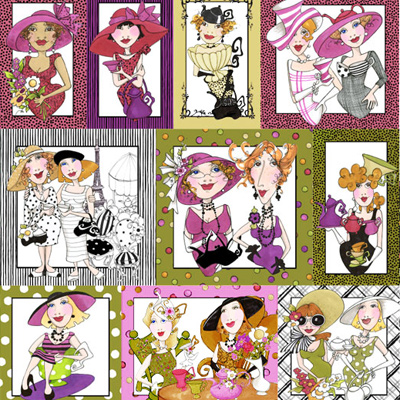 【Loralie Designs】- Ladies Tea Panel - 60x110cm (ULH-055)