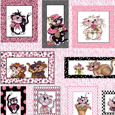 【Loralie Designs】- Fancy Cats Panel - 60x110cm (ULH-060)