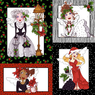 【Loralie Designs】- Fairy Merry Christmas Panel - 60x110cm (ULH-064)