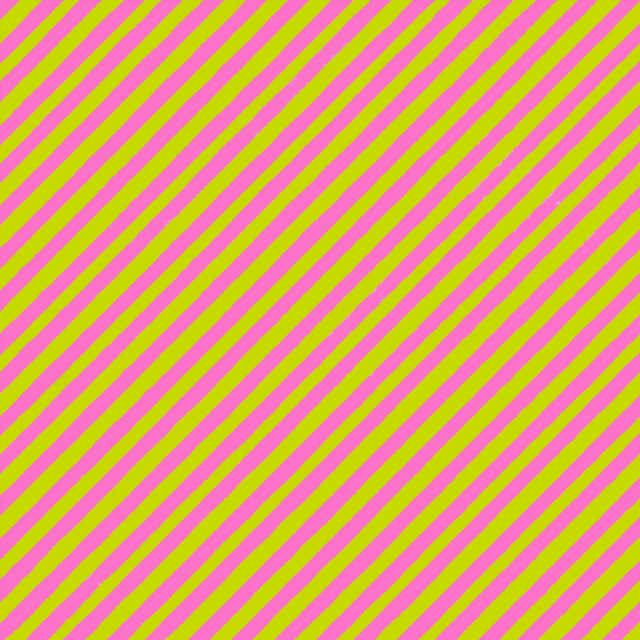 【Loralie Designs】 - Bias Stripe Bold Green / Pink Fabric- (ULH-070)