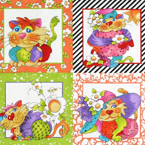 【Loralie Designs】- Happy Cats Panel - 60x110cm (ULH-098)