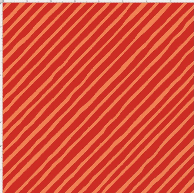 【Loralie Designs】 - Bias Stripe  Red/Orange- (ULH-006)