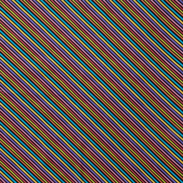 【Loralie Designs】 - Bias Stripe Black Fabric- (ULH-140)