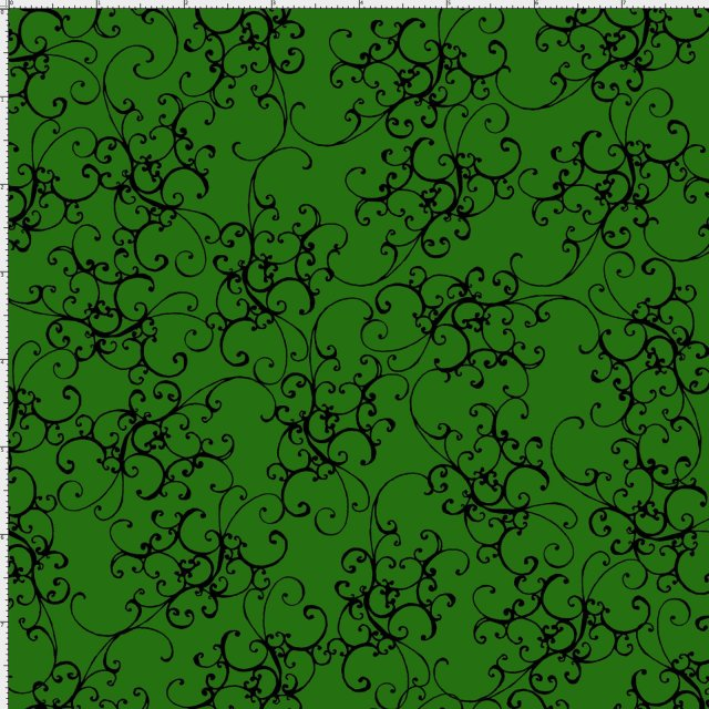 【Loralie Designs】- Elegant Scroll Forest Green  -(ULH-149)
