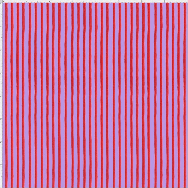 【Loralie Designs】- Party Stripe Purple / Red Fabric -(ULH-150)