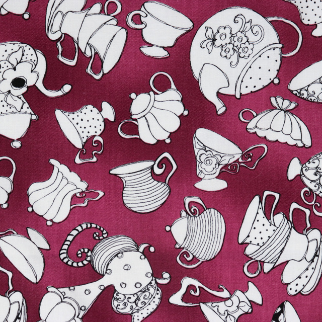 【Loralie Designs】- Tea Party Purple Fabric -(ULH-166)