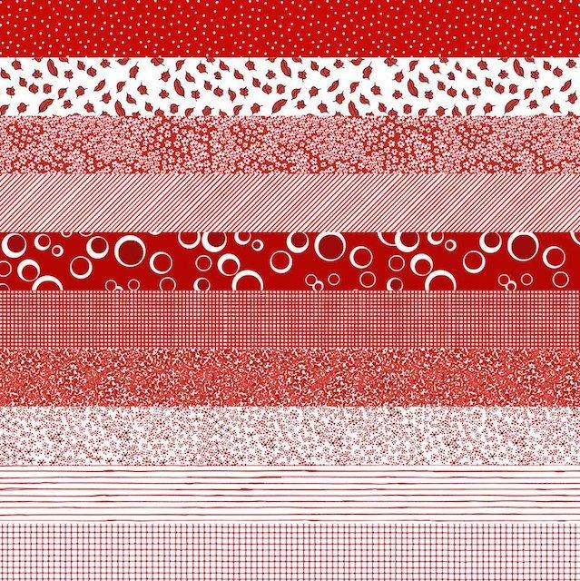 【Loralie Designs】Medley Nifty Nurses Strip Fabric Panel(ULH-301)