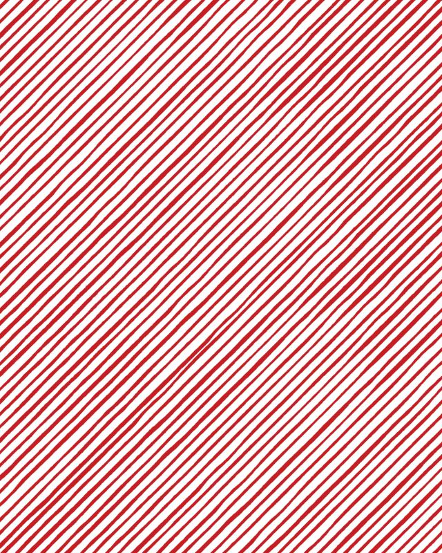【Loralie Designs】- QUIRKYBIAS STRIPE WHITE RED -(ULH-318)