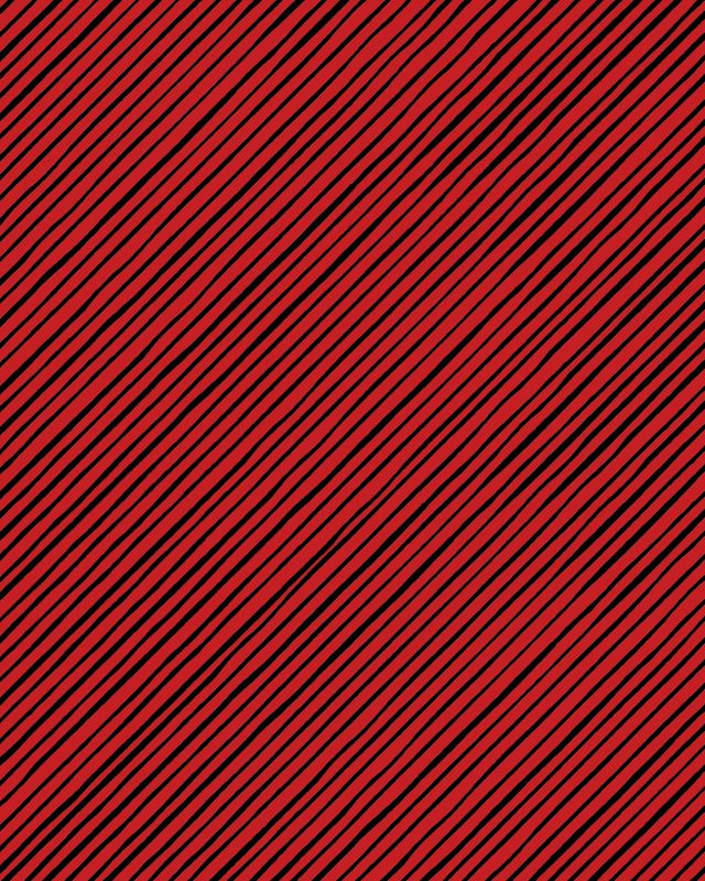 【Loralie Designs】- QUIRKYBIAS STRIPE RED BLACK -(ULH-319)