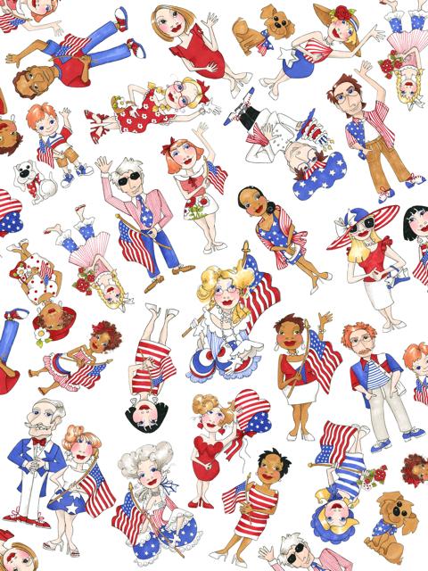【Loralie Designs】- US Tossed Fabric -(ULH-325)