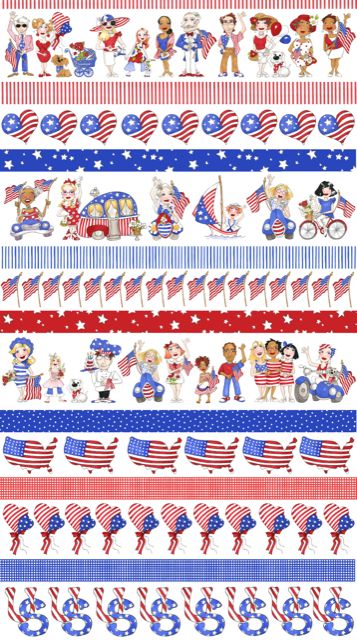 【Loralie Designs】- US Borders Fabric-(ULH-326)