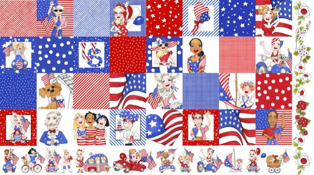 【Loralie Designs】- US Medley Fabric Panel -(ULH-327)