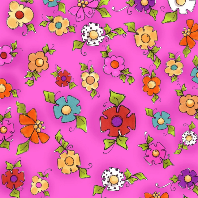 【Loralie Designs】- Happy Blooms Pink(ULH-336)