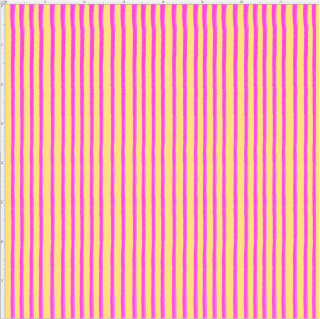 【Loralie Designs】- Party Stripe Yellow / Pink Fabric  (ULH-348)