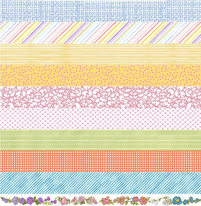 【Loralie Designs】Joy Journey Medley Strip Fabric Panel (ULH-351)