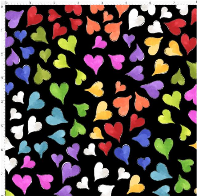 【Loralie Designs】- Happy Hearts Black-(ULH-366)