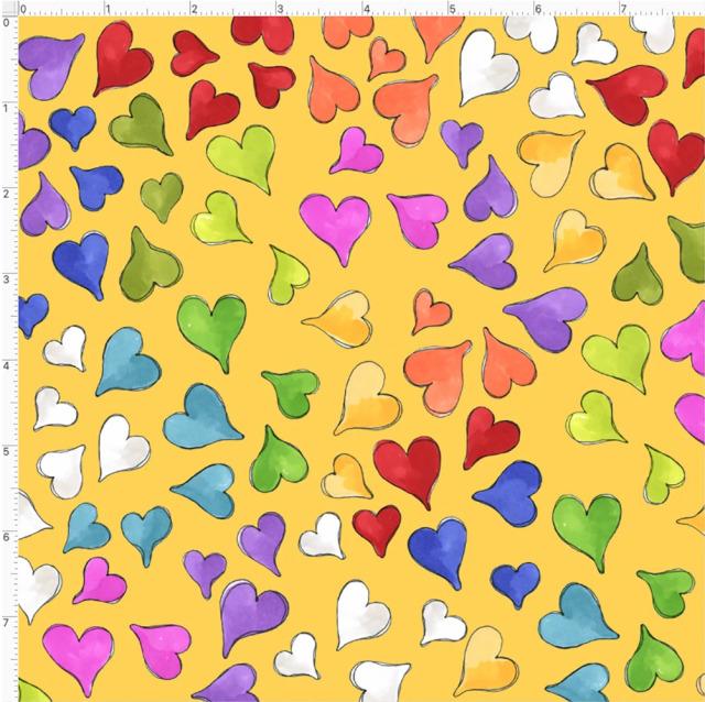 【Loralie Designs】- Happy Hearts Yellow-(ULH-367)