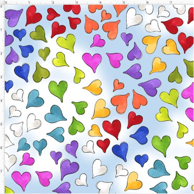 【Loralie Designs】- Happy Hearts Blue Sky-(ULH-368)