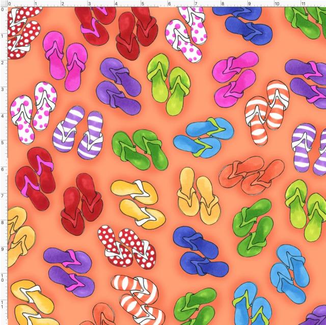 【Loralie Designs】- Fun Flops Orange -(ULH-389)