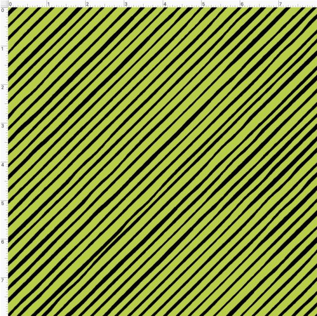 【Loralie Designs】- Quirky Bias Stripe Lime-(ULH-394)