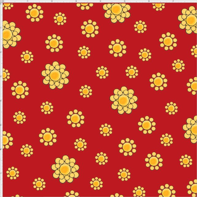 【Loralie Designs】- Bandana Dots Red Fabric-(ULH-178)