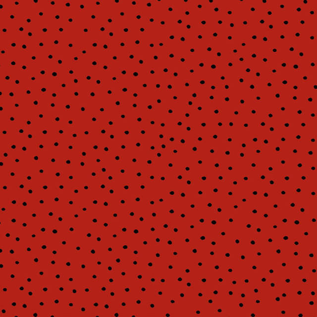 【Loralie Designs】- Dinky Dots Red / Black Fabric -(ULH-188)