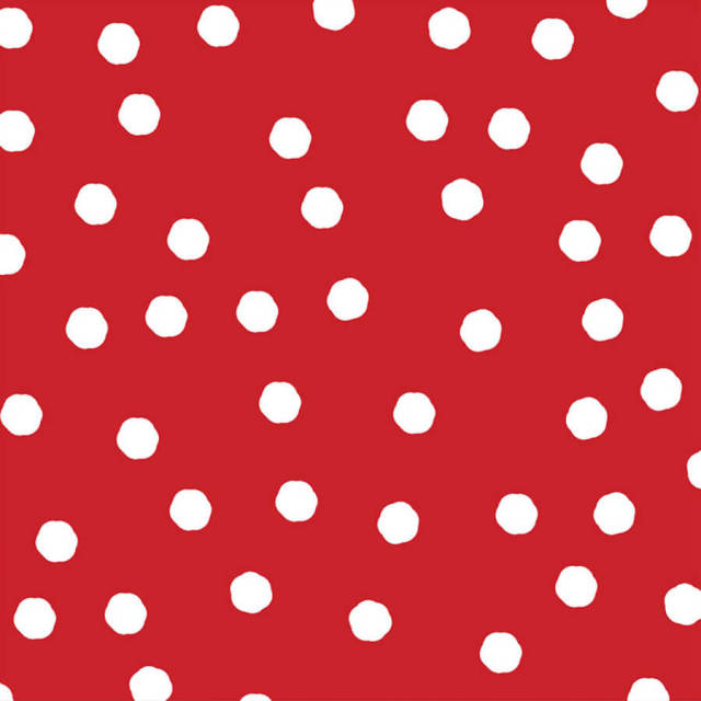 【Loralie Designs】- Jumbo Dots Red / White Fabric -(ULH-189)
