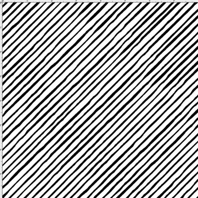 【Loralie Designs】-Sorta Stripe Bias White / Black -(ULH-225)