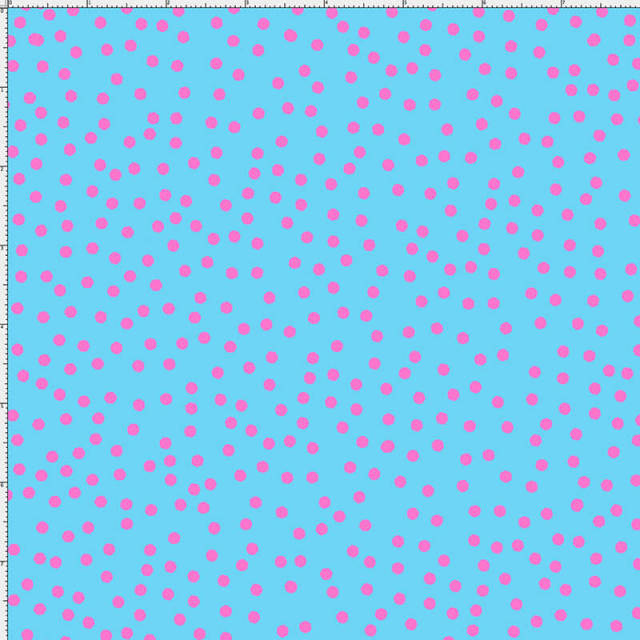 【Loralie Designs】-Dear Dots Turquoise/Pink-(ULH-233)