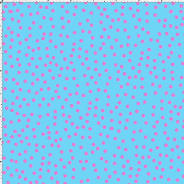【Loralie Designs】-Dear Dots Turquoise/Pink-ドット柄(ULH-233)ライトブルー系