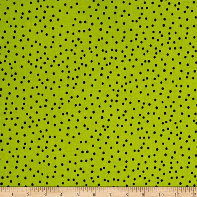 【Loralie Designs】-Dinky Dots Lime/Black -(ULH-237)