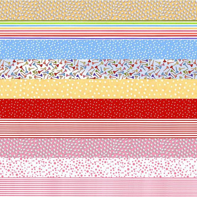 【Loralie Designs】Medley You Golf Girl! Strip Fabric Panel(ULH-244)