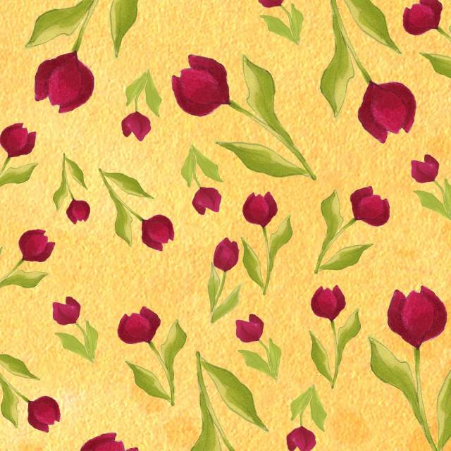 【Loralie Designs】Tulip Toss Yellow (ULH-262)
