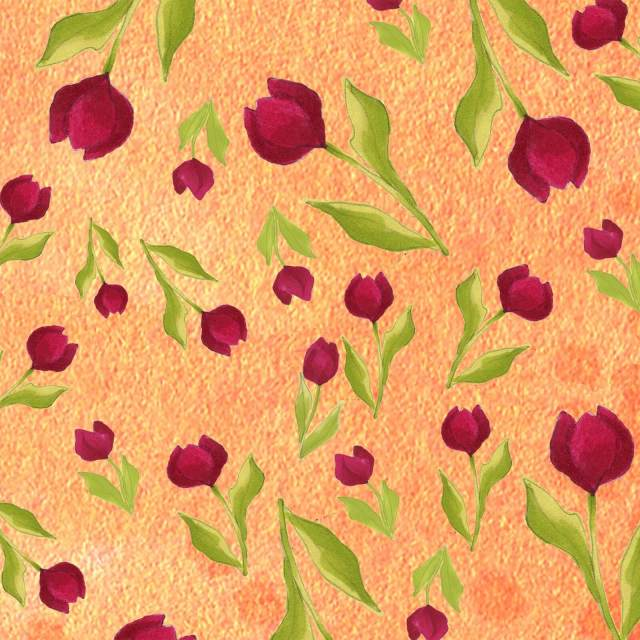【Loralie Designs】Tulip Toss Orange(ULH-263)