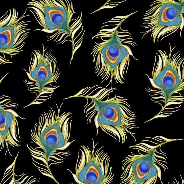 【Loralie Designs】Pretty Peacock Black(ULH-268)