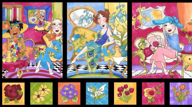 【Loralie Designs】Sitting Pretty Portrait Fabric Panel(ULH-274)