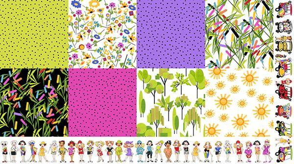 【Loralie Designs】Golf Happy Patch Fabric Panel(ULH-277)