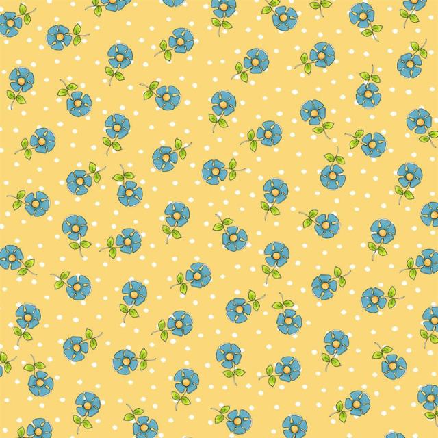 【Loralie Designs】- Daisy Dots Yellow  -(ULH-307)