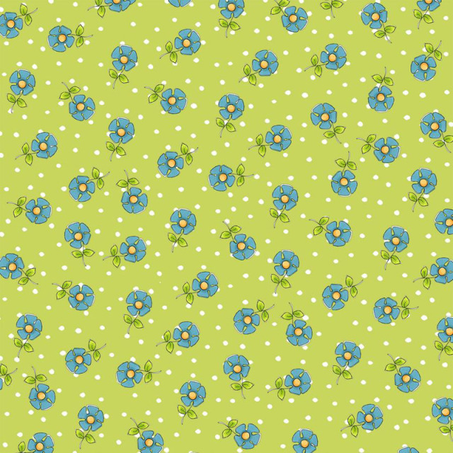 【Loralie Designs】- Daisy Dots Green  -(ULH-308)