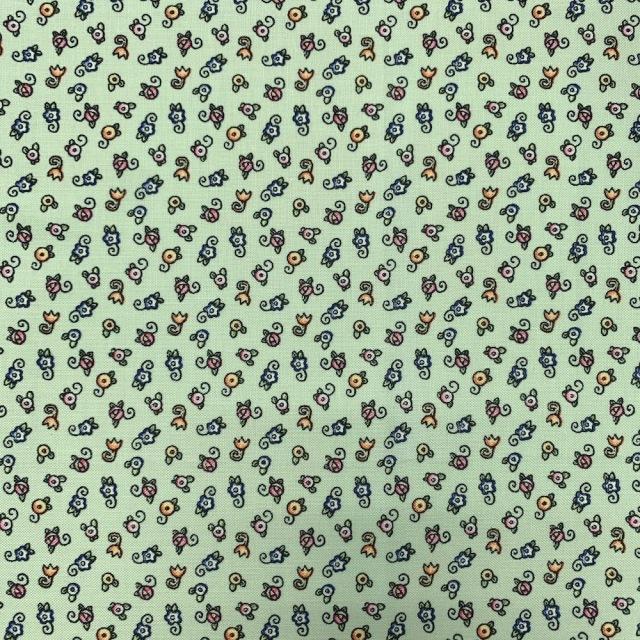 50x55cm (UME-036) グリーン系  花柄